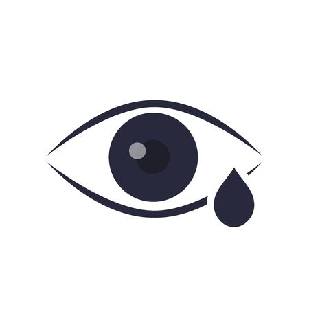 Eye drop line icon. Eye Care vector logo design. Eye with tear vector illustration. Eye with drop outline style design, designed for web and app. vector, illustration Ilustracja