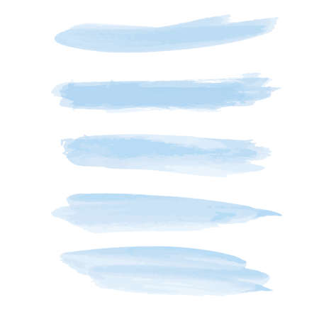 Blue watercolor hand drawn. Abstract cold color brush paint paper grain texture illustration element for wallpaper, label.illustration, vector. Illustration