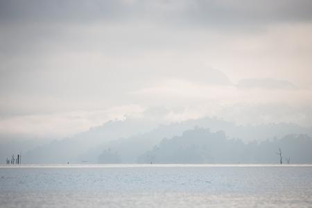 Mountain and mist. Stock Photo
