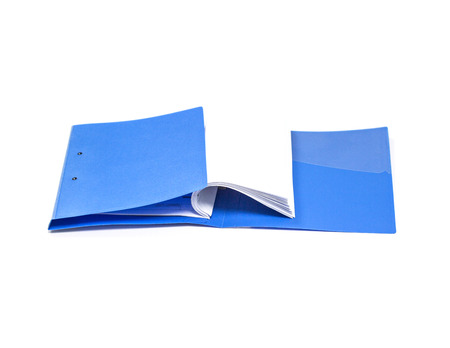 file folder with documents and documents. retention of contracts. isolated white background
