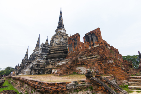 Travel of Thailand, Wat Phra Si Sanphet Ayutthaya - Ayutthaya Historical Park  has been considered a World Heritage Site on December 13th 2534 in the historic city of Ayutthaya. Editorial