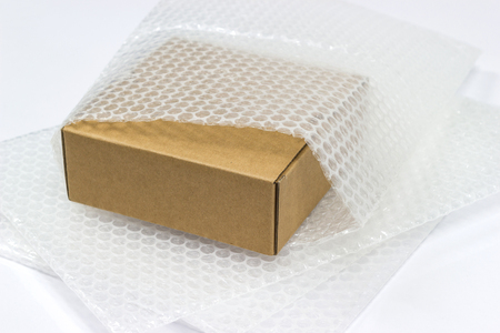 bubble wrap, for protection product cracked  or insurance During transit isolated Stock Photo