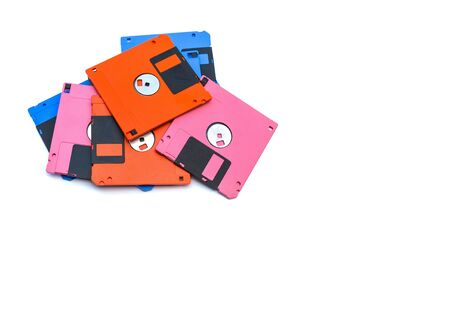 A floppy disk also called a floppy, diskette, or just disk was a ubiquitous form of data storage and exchange from the mid-1970s into the mid-2000s. isolated copy space