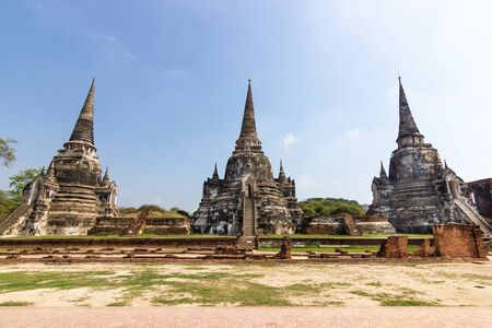 There are 3 subsidiaries bell shaped - Wat Phra Si Sanphet Ayutthaya - Ayutthaya Historical Park