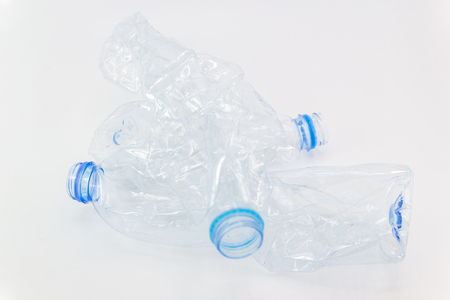 Waste from plastic bottles for recycling will be recycled, Concept of recycling the Empty used plastic bottle