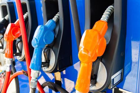 Gasoline fuel pumps Fuel Tank petrol Bangkok Thailand. Stock Photo