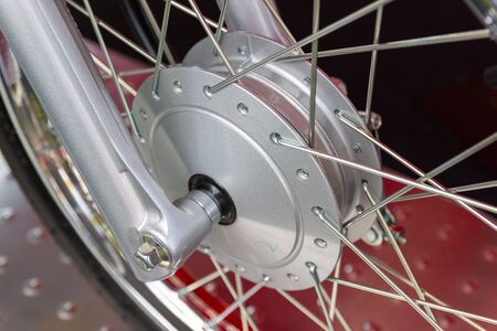 Motorcycle wheels, wire spokes of a motorcycle