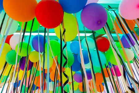 Colorful party balloon For party activities, entertainment, celebrations Stok Fotoğraf