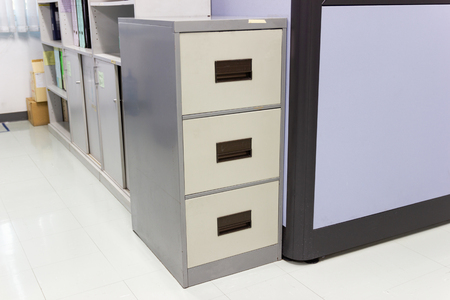 The files document in a file cabinet in work office, concept business office life.