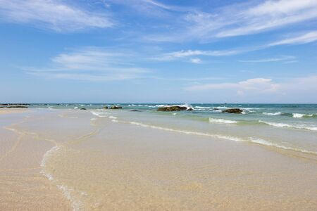 Landscapes View The atmosphere is beautiful Sand and sea and the color of the sky, The beach of Thailand.