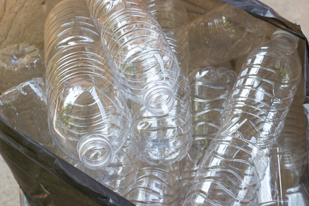 Plastic waste - plastic bottles, Concept of recycling the Empty used plastic bottle