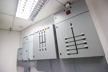 Electric Control Electrical Fuseboxes and Power Lines Switchers in the building