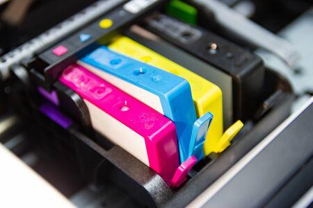 the color printer inkjet cartridge of the printer inject Stok Fotoğraf