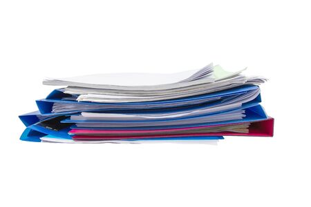 blue files folder retention of contracts isolated on white background, concept Office supplies
