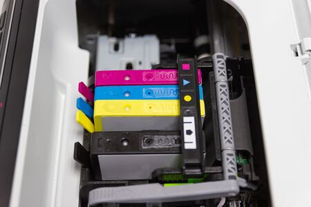 the color printer inkjet cartridge of the printer inject