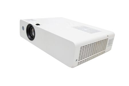 white projector for presentation for business work isolated white background, clipping path Archivio Fotografico - 130128505