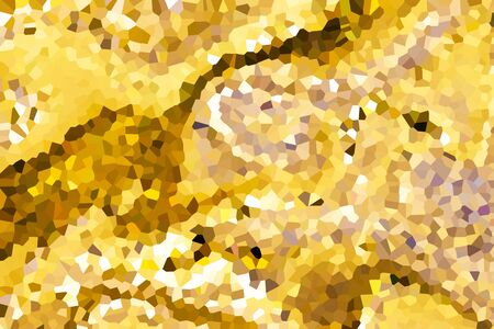 gold abstract background texture polygon design illustration Stock Photo