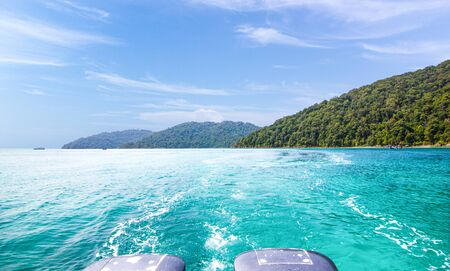 Landscape view Surin Island as a tourist destination featured in the beauty under the sea Is a place in southern Thailand 写真素材