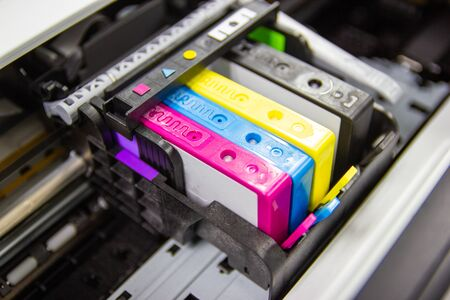 An ink cartridge or inkjet cartridge is a component of an inkjet printer that contains the ink four color
