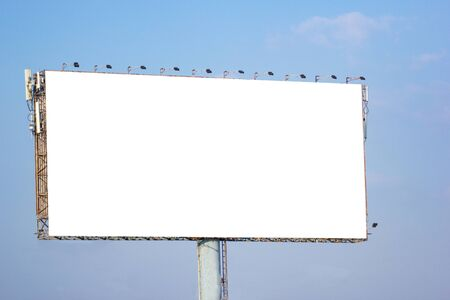 Big Billboard outdoor do reklamy z białym tłem