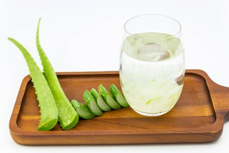 Aloe vera  the plant that yields aloe vera, products including beverages, skin lotion, cosmetics, or ointments for minor burns and sunburns.