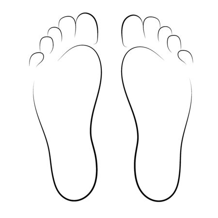symbol adults human footprints vector illustrator Vetores
