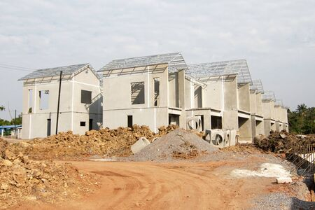 Building and Construction site of new home For housing at Thailand