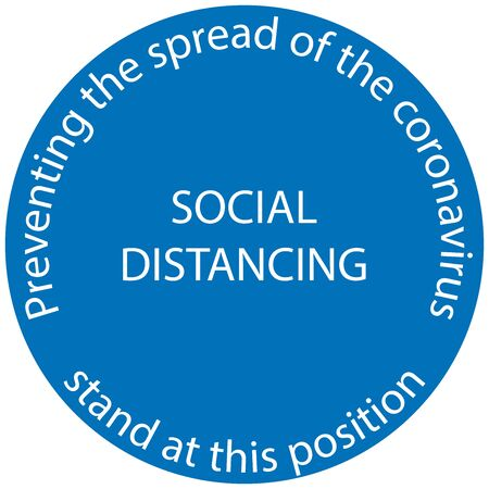 Symbol Marking the standing position, the floor as markers for people to stand 6 feet apart, the practices put in place to enforce social distancing, vector illustration