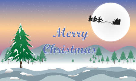 graphics design for Card for Merry Christmas Happy New Year design vector illustration