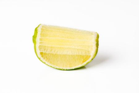 Lemon on white background. Vegetable concept. Standard-Bild