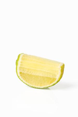 Lemon on white background In vegetable concept.