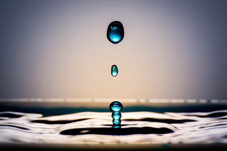 Very beautiful water drops. It feels calm and cool.