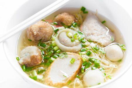 Noodles Soup with Fish Zdjęcie Seryjne