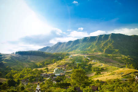 Landscape view house on hill at Khao Kho, Phetchabun of Thailand