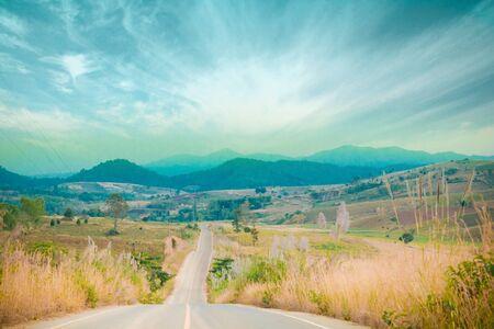 Mountain Road of Thailand Zdjęcie Seryjne