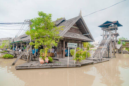 The ancient traditional architecture at Pattayas 4 regions floating market.