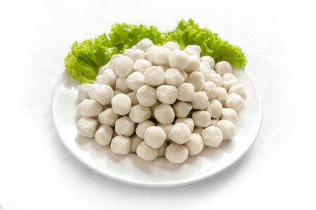 wienie: Fish ball isolated on white background