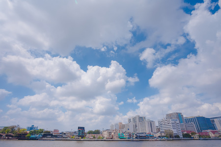 Chaophya river. This view is from Pinklao bridge