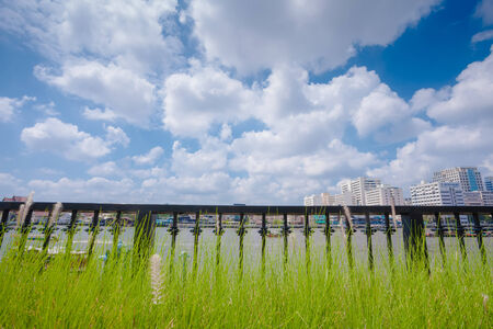 The Chaopraya river and nice sky