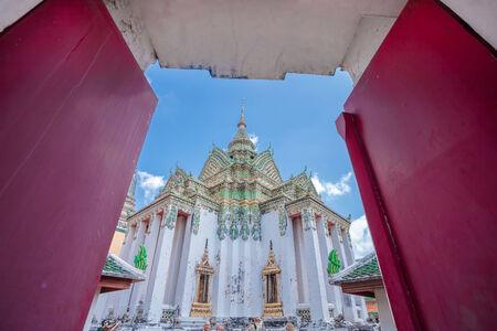 Wat Pho, Alignment door, Bangkok, Thailand photo