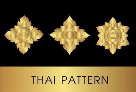 Thai art pattern vector Vector
