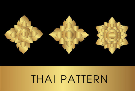 Thai art pattern vector
