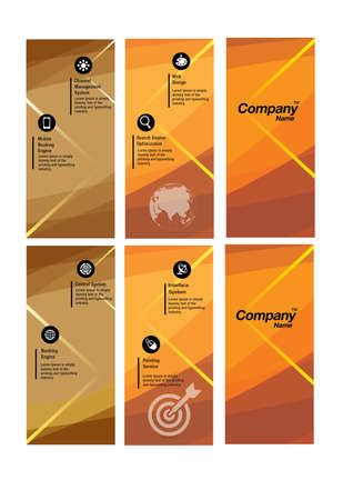 Abstract Orange Flyer Logo Template