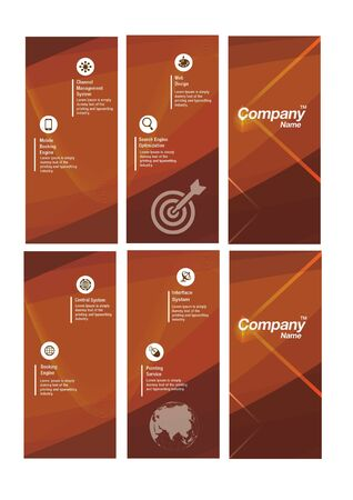 logo marketing: Abstract brown Flyer logo Template