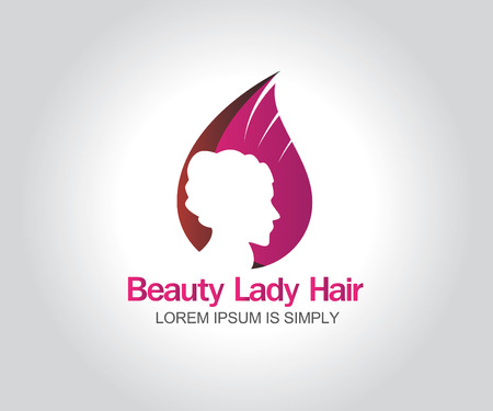 Womans face. Abstract design concept for beauty salon. Vector logo template