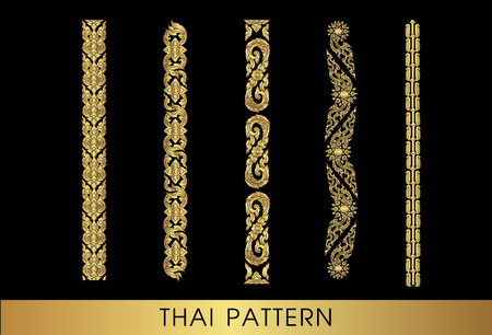 vintage pattern background: Thai art pattern vector