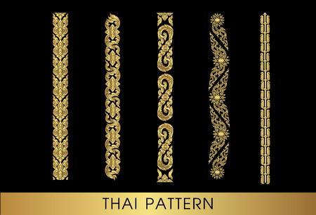 flower patterns: Thaise kunst patroon vector