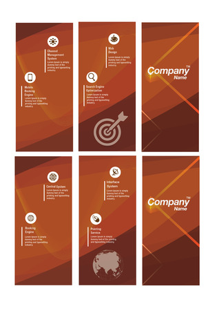 Abstract Orange Flyer Template