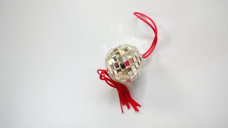 chrome base: cristal ball on white background