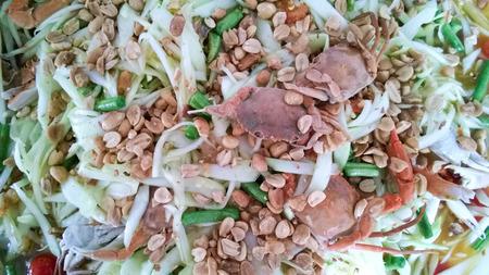 tam: Som Tam Thai - Thai Green Papaya Salad with peanuts.